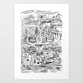 Sketch Book Art Print
