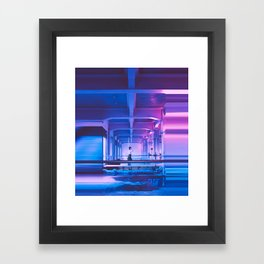 Glitchy Dreams Of You Framed Art Print