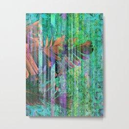 350 3 Abstract Botanical Leaves Metal Print