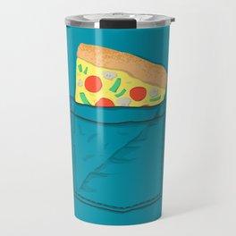 Emergency supply - pocket pizza Travel Mug