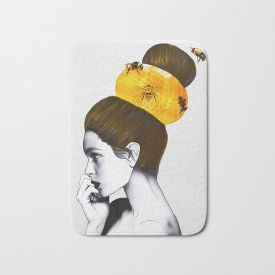 The Bee Hive Bath Mat