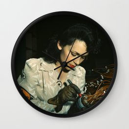 WWII Woman Aircraft Worker Wall Clock