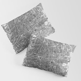 Vintage Map of Liverpool England (1890) BW Pillow Sham