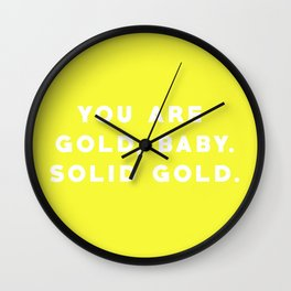 SOLID GOLD Wall Clock