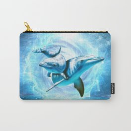 dolphin blue fantasy Carry-All Pouch