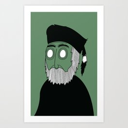 Grizz Art Print