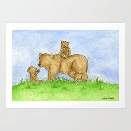 Bear Adventures Art Print