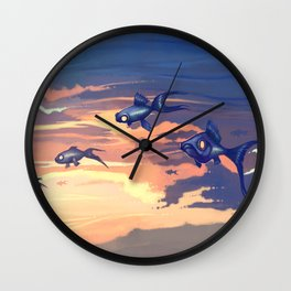 Sky Fishes Wall Clock