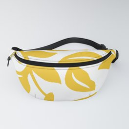 PALM LEAF VINE LEAF YELLOW PATTERN Fanny Pack