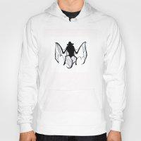 bat Hoodies featuring BAT!! by michael newton