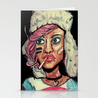 tank girl Stationery Cards featuring Tank Girl by N3RDS+INK