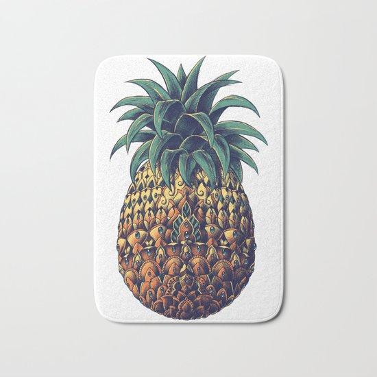Ornate Pineapple (Colored) Bath Mat