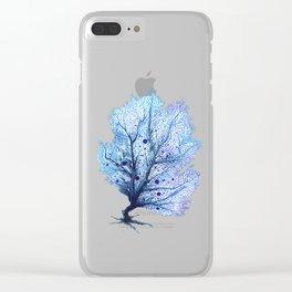Fan Coral - Blue Clear iPhone Case
