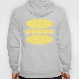 Yellow with White Squiggly Lines Hoody