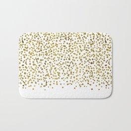 Gold Confetti Sparkle and Shine Bath Mat