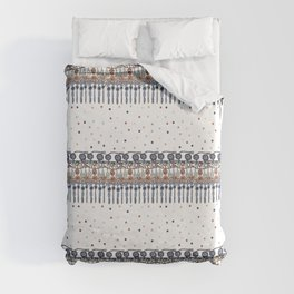 Retinal Circuitry - Color on White Duvet Cover