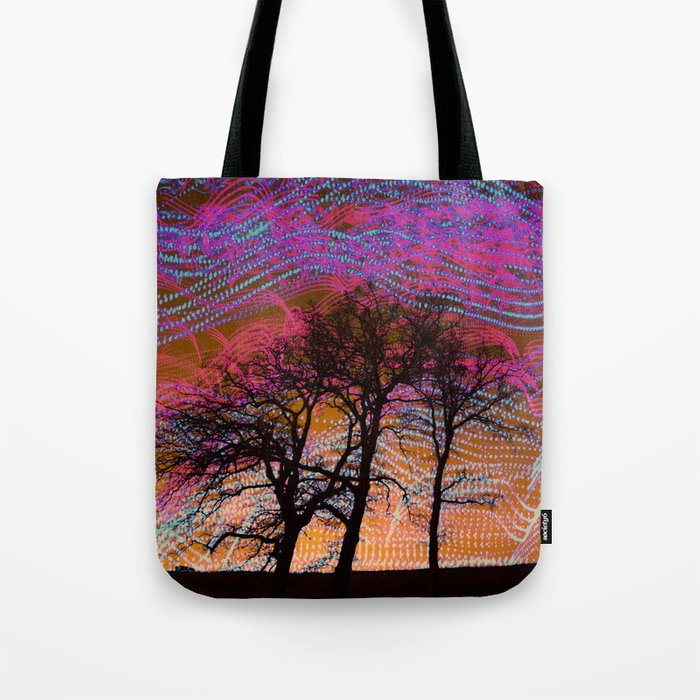 Disco Dancing Trees Tote Bag