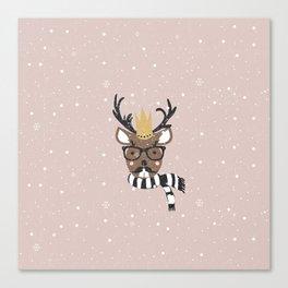 Holiday Deer Illustration Canvas Print