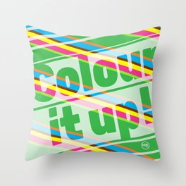 Colour it up! Throw Pillow