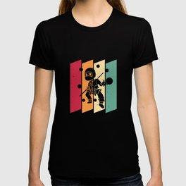 Ninja Billiard Snooker Pool Player Retro T-shirt
