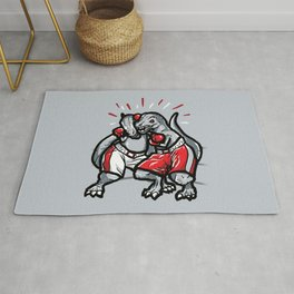 Rumble of the Rexes Rug