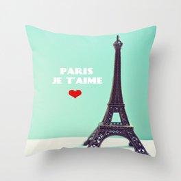 Paris Je T'aime Throw Pillow