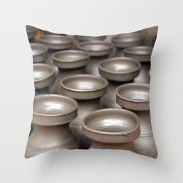 Drying Pots Bhakatpur Throw Pillow