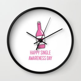 Single Valentine, singles day, Anti Valentines Wall Clock