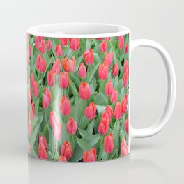 The field of red tulips Coffee Mug