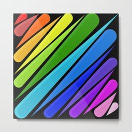 Rain Storm Rainbow Metal Print