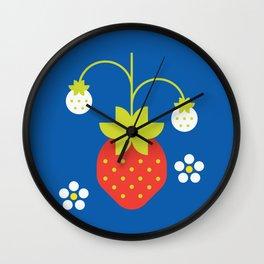 Fruit: Strawberry Wall Clock