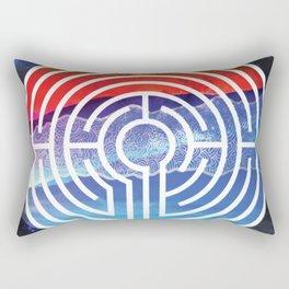 Transformative Labyrinth of Sound Rectangular Pillow