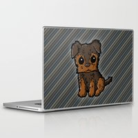 caleb troy Laptop & iPad Skins featuring Troy - Silky Terrier by Sylvester Pyke