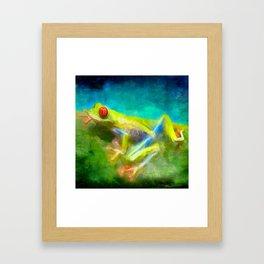 La grenouille Framed Art Print