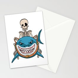 Know Someone That Is A Shark Fan? Here's A Shark Shirt Sea Creatures Oceanic Sea Attack Dangerous Stationery Cards