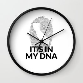 California DNA Shirt for People from California  Wall Clock