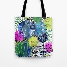 Indigo Blooms Tote Bag