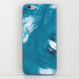 Fuzzy, Abstract, Blue Duck iPhone Skin