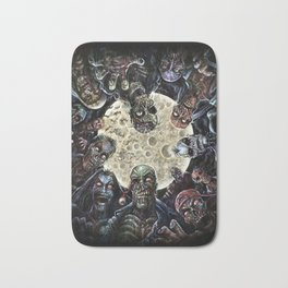 Zombies attack (zombie circle horde) Bath Mat