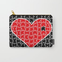 REVERSE PUZZLE HEART Carry-All Pouch