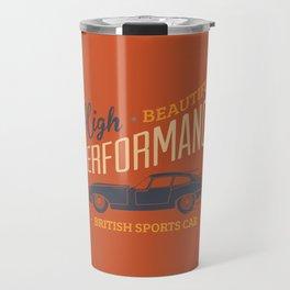 Vintage British Sport Car Travel Mug