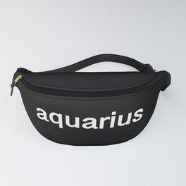 Aquarius (Black) Fanny Pack