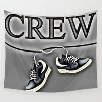 animal crew Wall Tapestries featuring Crew by Cs025