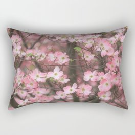 Pink Dogwoods Rectangular Pillow