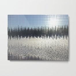 Abstract Winterscape Metal Print