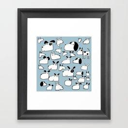 Many Dogs Framed Art Print