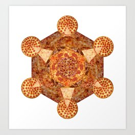 Metatron's Pizza Art Print