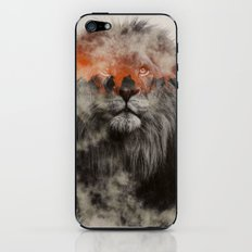 Lion In Fog iPhone & iPod Skin