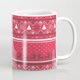 Festive FairIsle - Red Coffee Mug