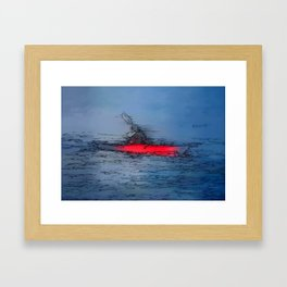 Wilderness Kayaker Framed Art Print